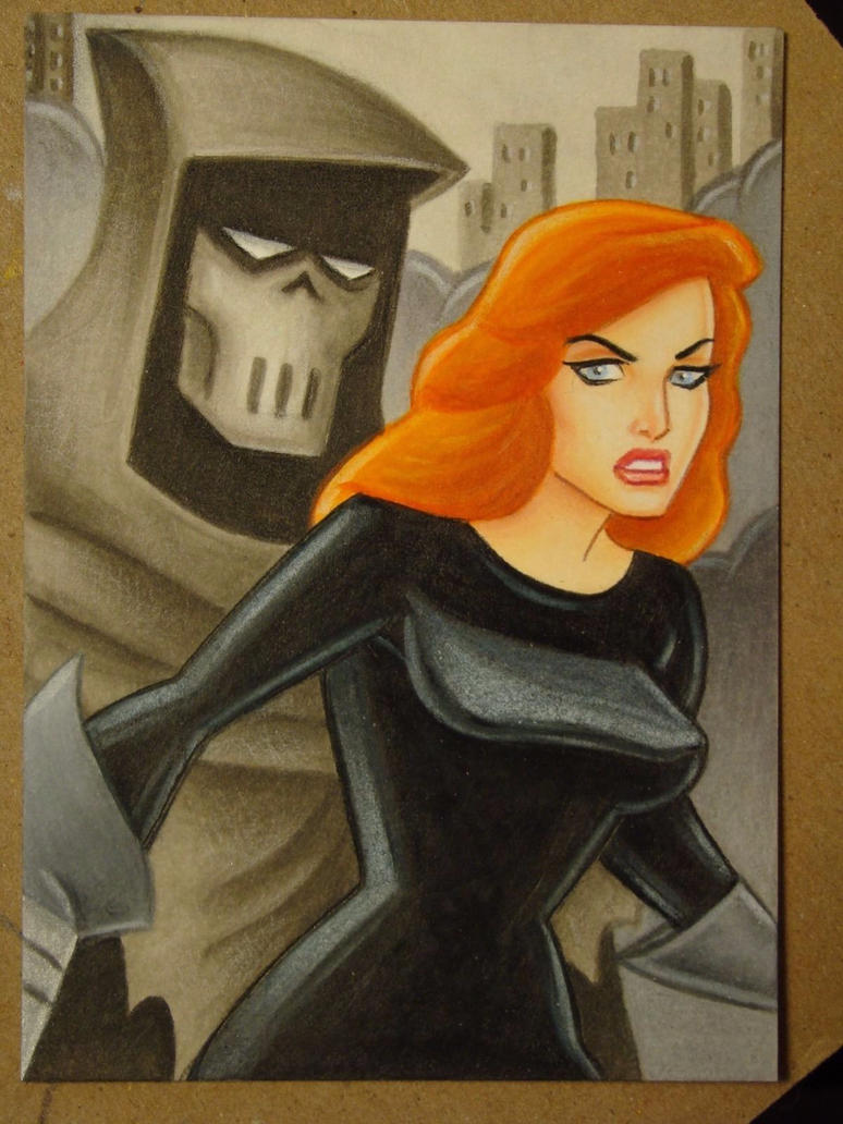 Mask of the Phantasm Sketch Card by MrBowen3