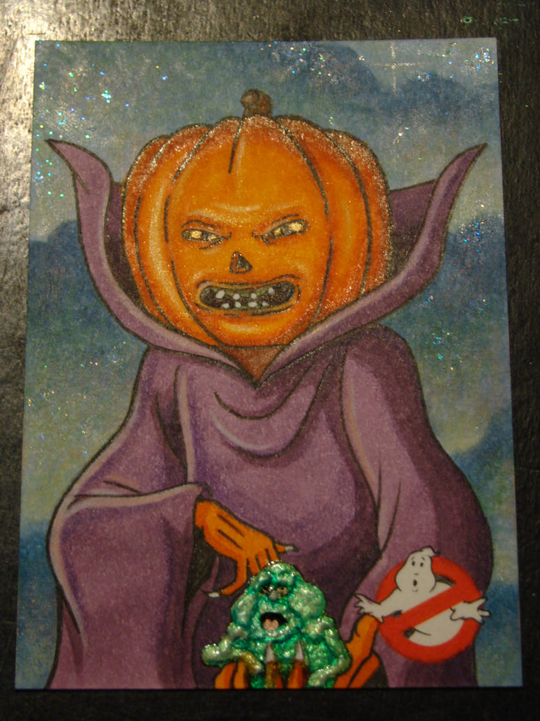 Cryptozoic Ghostbusters Artist Proof Slimer Samhai by MrBowen3