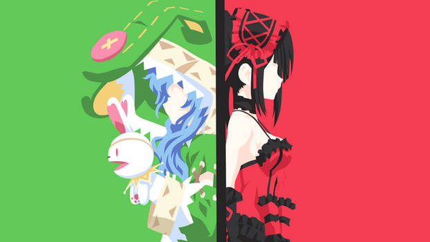 Yoshino and Kurumi - Date A Live Minimalist