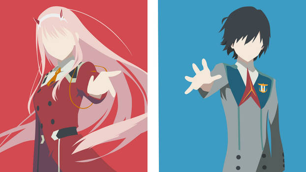 Hiro and Zero Two - Darling in the FranXX V2