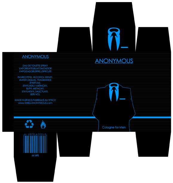 Anonymous package design by redvo on deviantart for Cologne box template