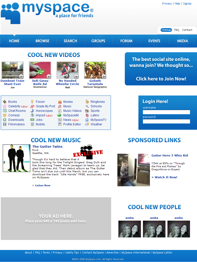 myspace redone web template 6 by redvo on deviantart