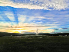 Old Faithful at Sunset #2 by KRHPhotography