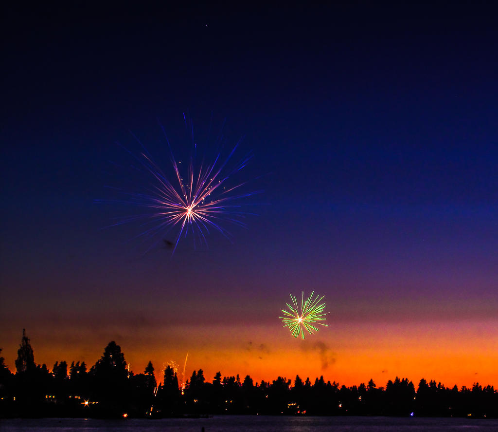Fireworks over Meridian by KRHPhotography