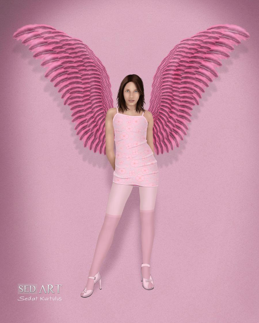 Pink Wings By Sedart On Deviantart