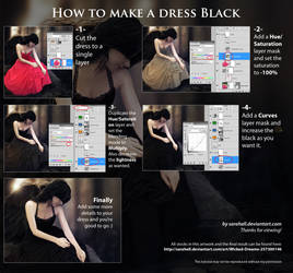 How to make a dress black