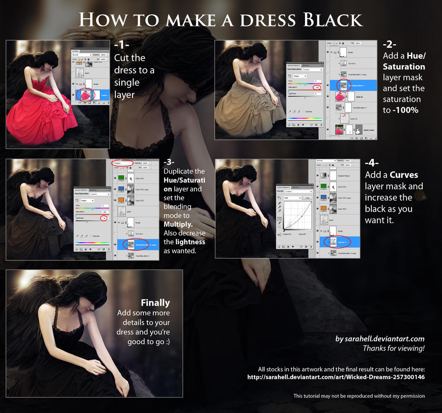 How to make a dress black by sara-hel