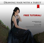 Drawing hair with a tablet