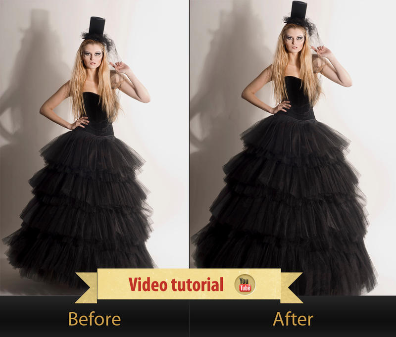Giving volume to a dress