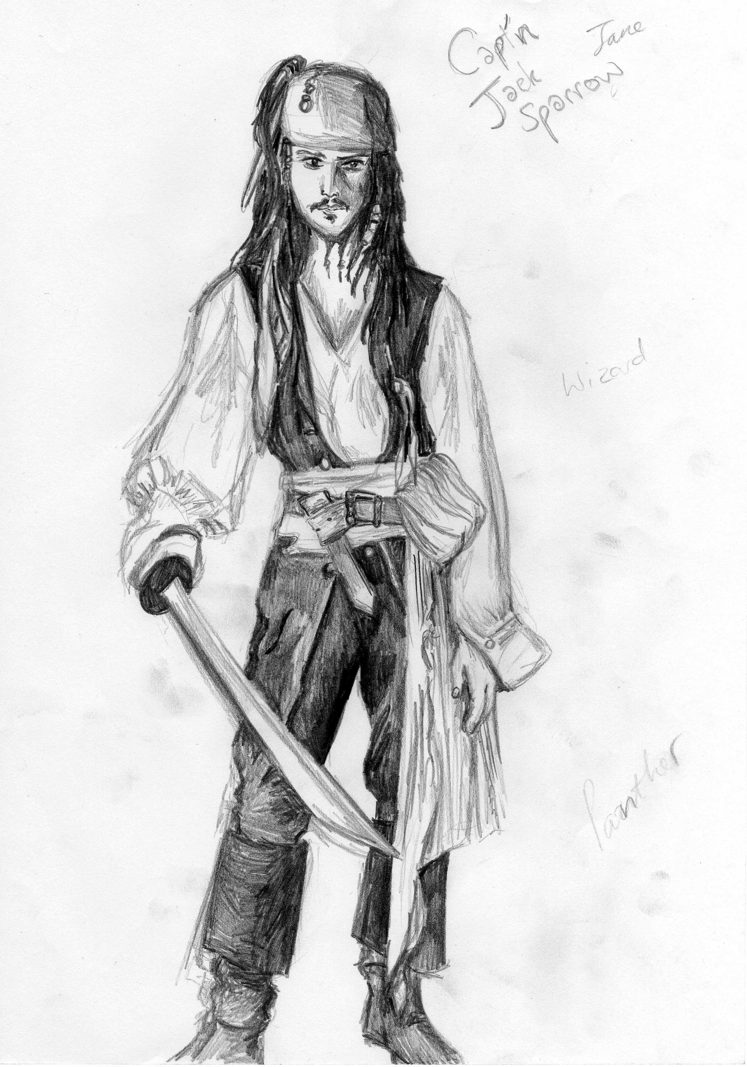 Jack Sparrow Drawing Simple