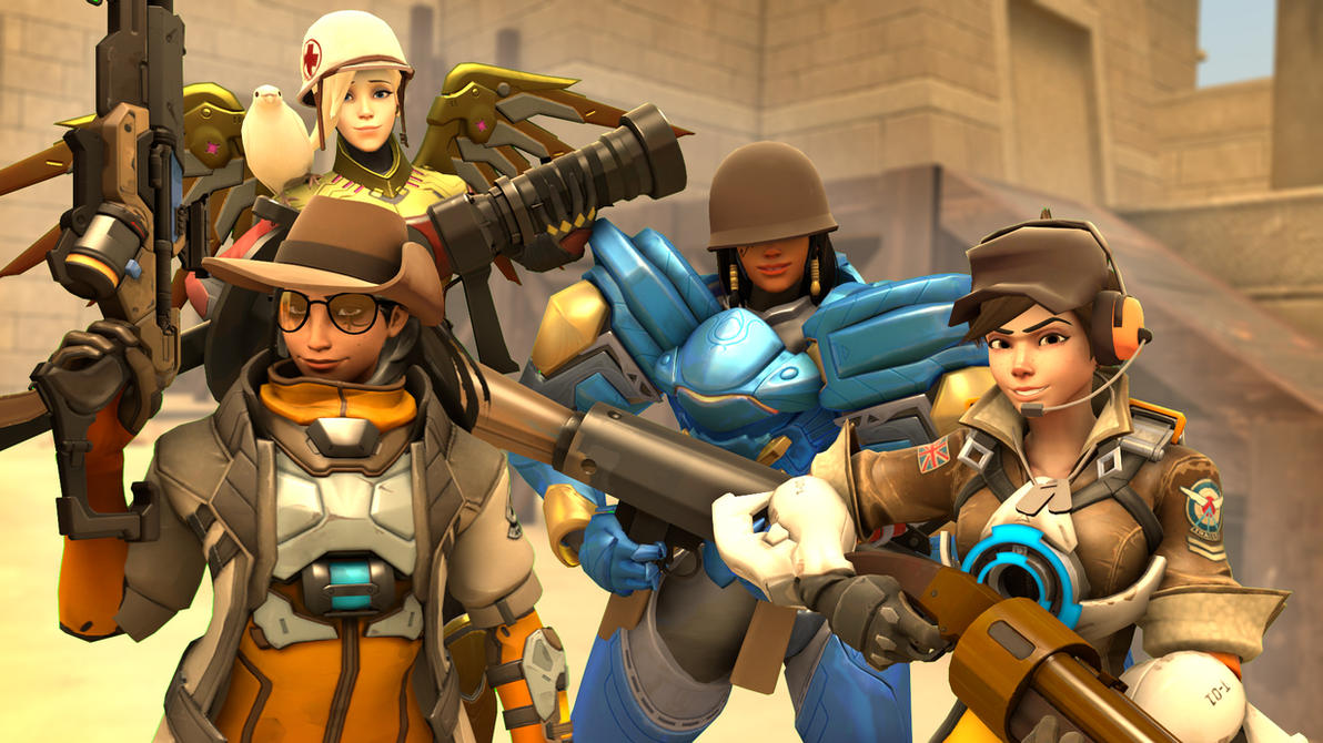Team Fortress (Overwatch Style) by Snoopsahoy