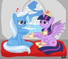 Trixie and Twilight by benkomilk
