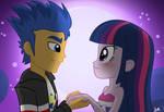 Equestria Girls:  Flash Sentry x Twilight