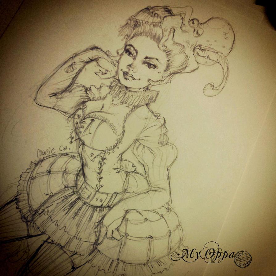 sketch steampunk :) by myoppa-creation