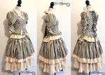 Striped steampunk dress (order)