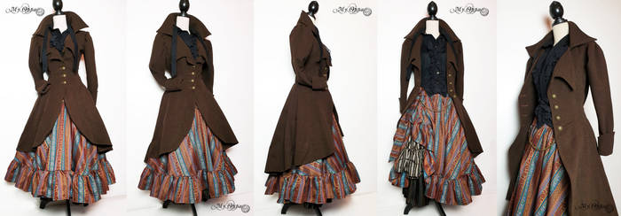 Autumnal steampunk outfit
