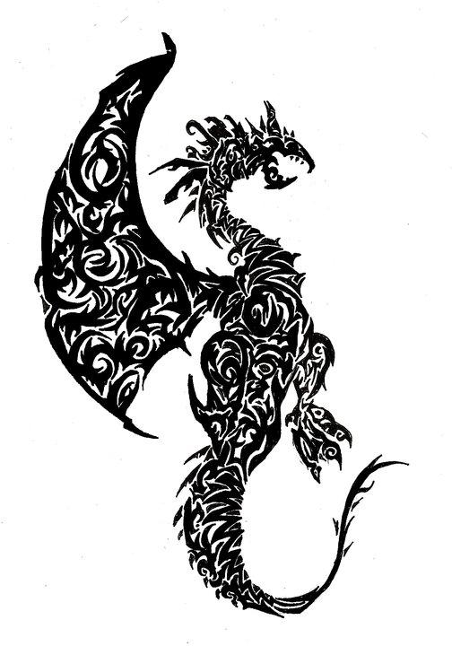 Tribal dragon by ThitaniumPrince