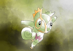 Kecleon (old Sugimori style) by ThitaniumPrince