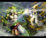 Broly VS Gogeta - Draw it again