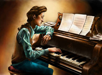 The nostalgic pianist by MonsieF