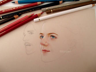 Ygritte and Jon - WIP by MonsieF
