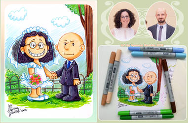 Wedding Greeting Card in Peanuts Style by vanessasan