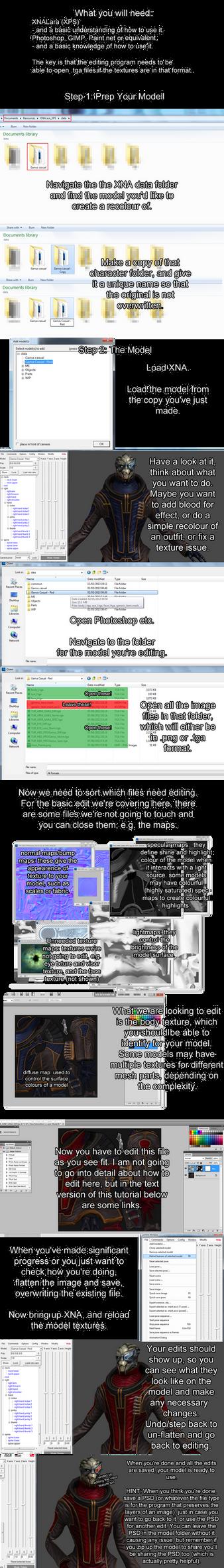 Basic XNALara Recolouring [tutorial] by Just-Jasper on DeviantArt