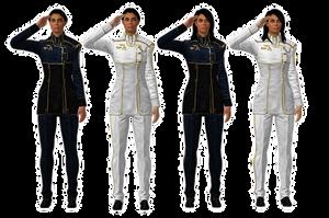 Ashley Williams Dress Blues/Whites [meshmods] by Just-Jasper