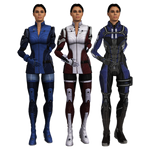 Ashley Williams ME3 Armors with Hair Up [meshmods]