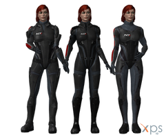 ME3 Femshep in ME1 N7 Armours for XPS by Just-Jasper