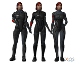 ME3 Femshep in ME1 N7 Armours for XPS