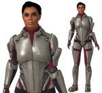 Ashley Williams  ME1/2 armour with bun for XPS