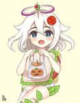 Paimon La Comida de Emergencia Halloween by Touh-Ichi