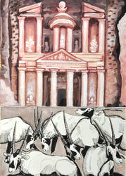 #1 Petra and Arabian Oryxes