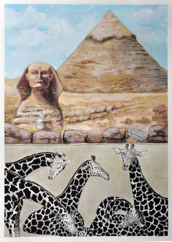 #2 Great Pyramids of Giza and Nubian Giraffes