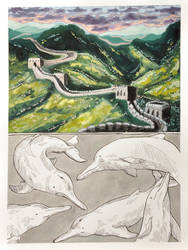 #5 Great Wall of China and Chinese River Dolphins