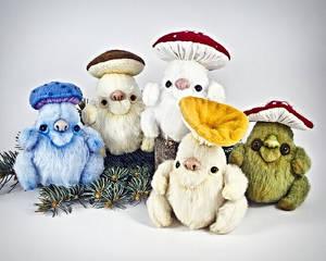 Magic Mushrooms, OOAK poseable art toys