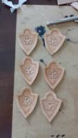Made 6 smaller emblems