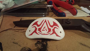 Assassin's creed styled stamped leather.