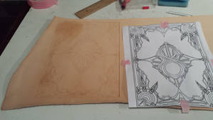 New leather book cover iam working on