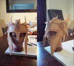 Made some progress with my leather helmet