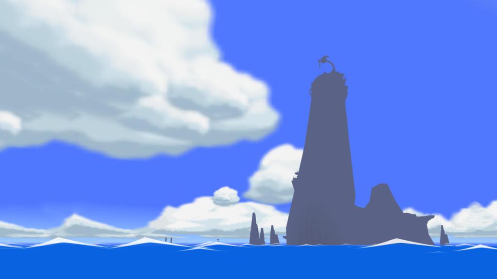 Wind Waker Sightseeing - Dragon Roost Island 2 by iamYORGOS