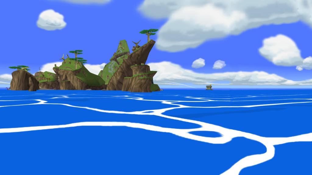 Wind Waker Sightseeing - Greatfish Isle by iamYORGOS