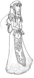 Zelda lineart by Nalikatti