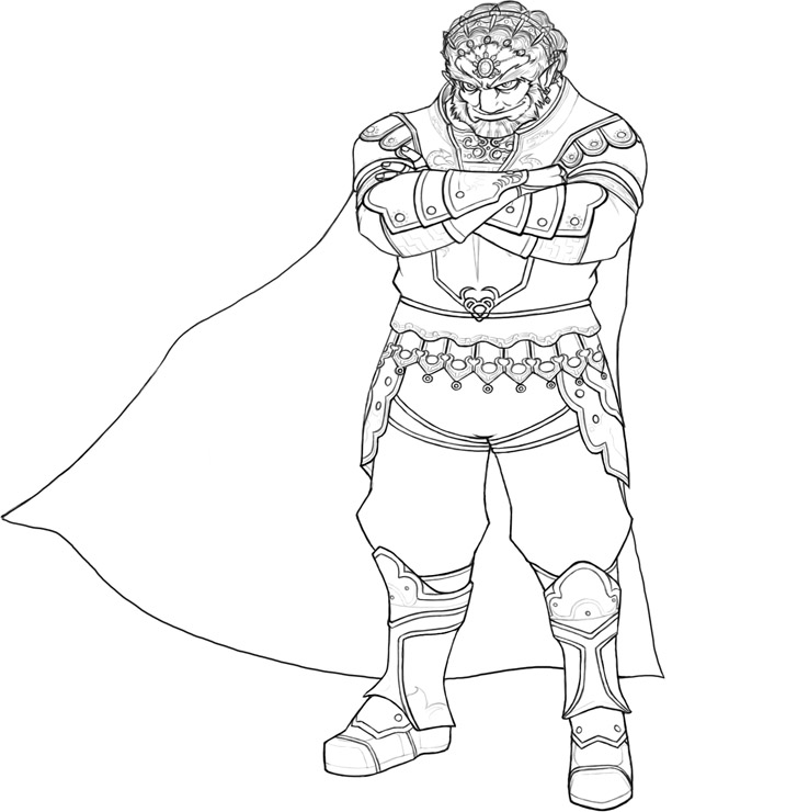 ganondorf coloring pages - photo#2