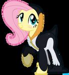 Fluttershy Penguin by VBASTV
