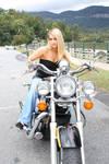 stock Blonde girl  Motorcycle