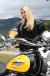 Stock girl with Motorcycle