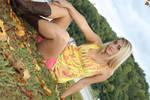 stock Blonde girl cowboyboots