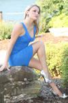 Stock Blonde Blue dress